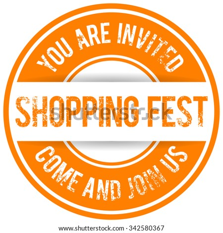 shopping fest sticker