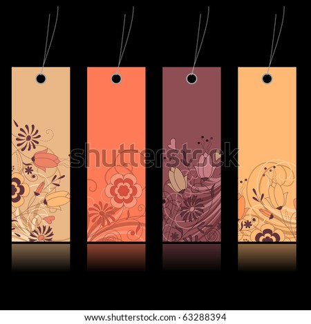 Shopping floral tags for any seasons