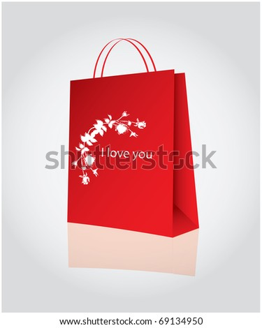 Shopping for valentine's day - stock vector