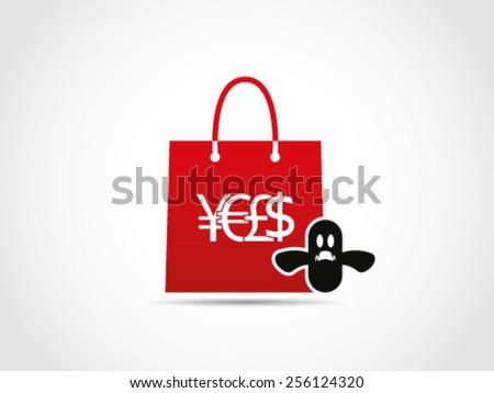 Shopping Halloween - stock vector