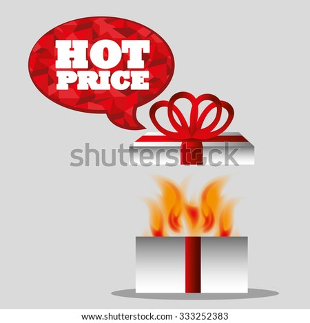 Shopping hot prices theme design, vector illustration graphic
