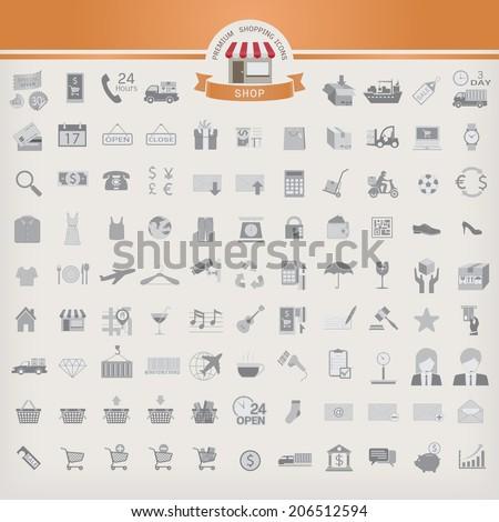 Shopping Icon set. - stock vector