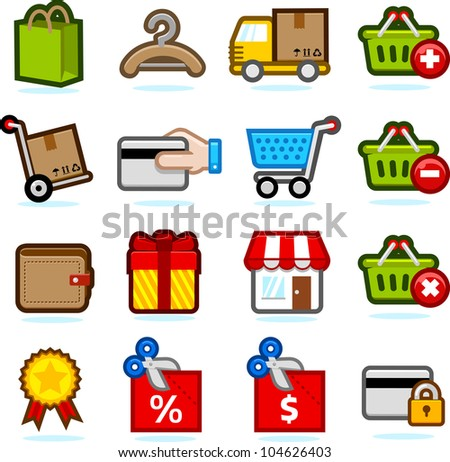 Shopping icon set B