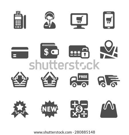 shopping icon set 8, vector eps10. - stock vector