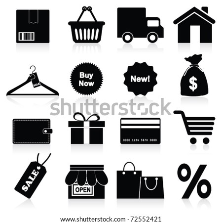 Shopping icon. Vector - stock vector