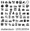 Shopping icons - stock
