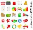 Shopping icons - stock vector