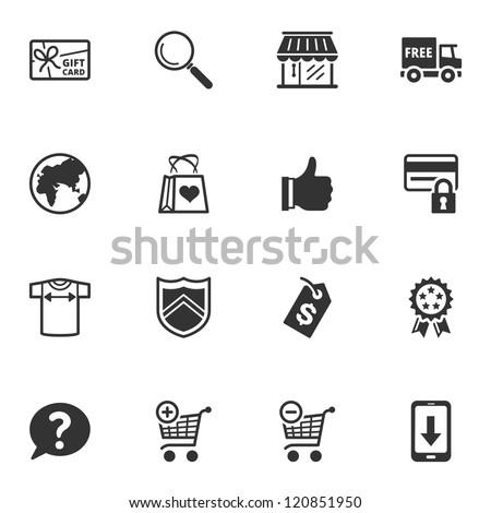 Shopping Icons - Set 2 - stock vector