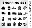 shopping icons set, marketing set - stock vector
