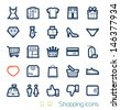 Shopping icons set Perfect lines - stock photo