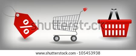 Shopping icons set. Vector illustration - stock vector