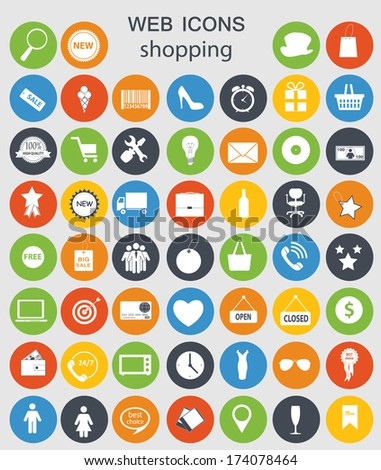 shopping icons vector illustration - stock vector