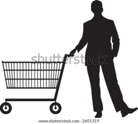 shopping in the supermarket - stock vector