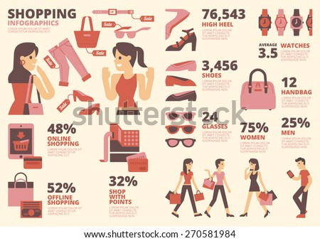 Shopping Infographics - stock vector