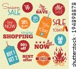 Shopping labels - stock vector