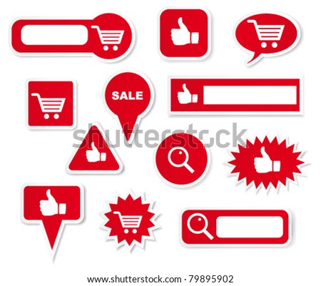 Shopping labels. Vector - stock vector