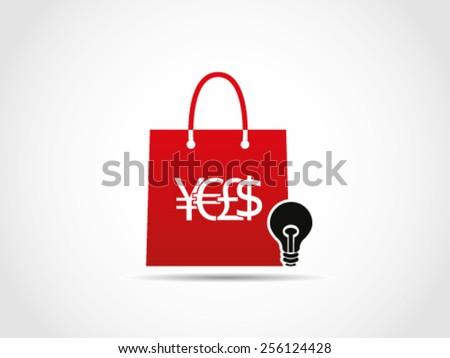 Shopping Lighting Lamp Stuff - stock vector