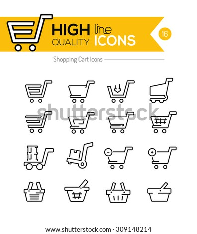 Shopping Line Icons Series - stock vector