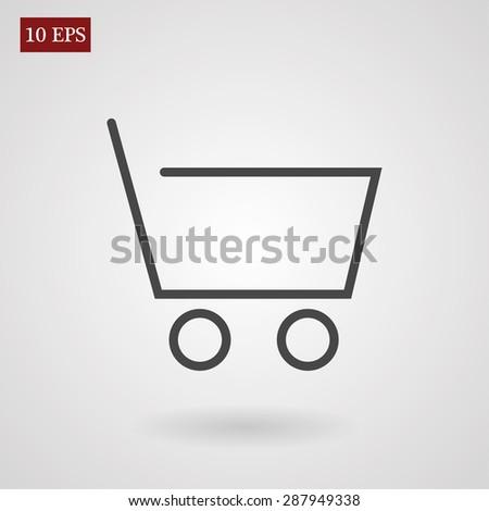 shopping line vector icon - stock vector