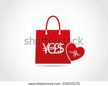 Shopping Medic - stock vector