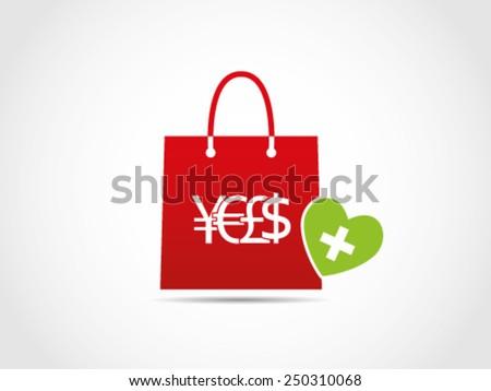 Shopping Medicine - stock vector