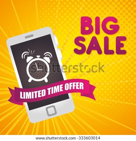 Shopping offers and sales graphic design, vector illustration - stock vector