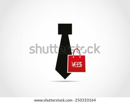 Shopping Office Stuff - stock vector
