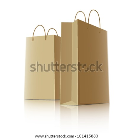 Shopping paper bags, vector illustration - stock vector