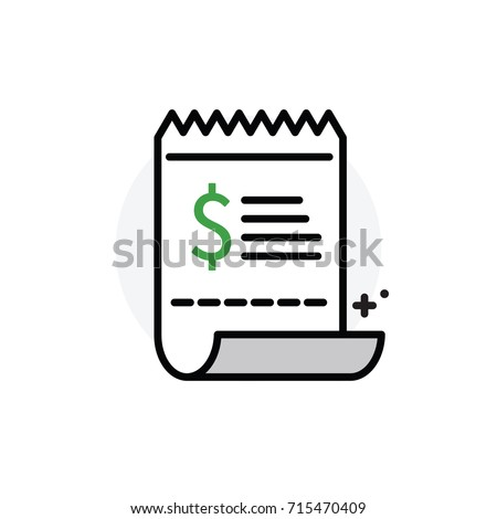 Shopping Payroll Receipt Concept Isolated Line Vector Illustration Editable  Icon  Payroll Receipt