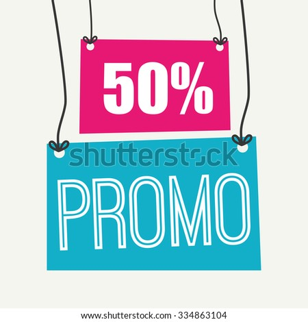 Shopping promo label tag graphic design, vector illustration.
