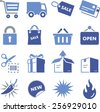 Shopping, retail and e-commerce icon set.  - stock vector