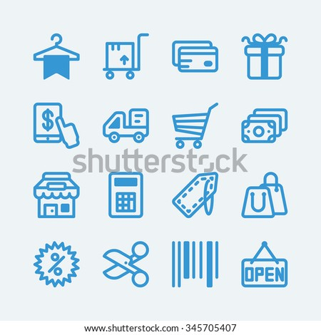 Shopping, sale icons. Vector EPS10