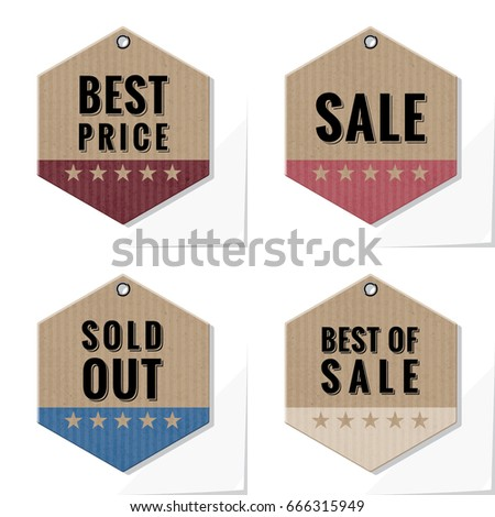 shopping tags best price sale sold stock vector royalty free
