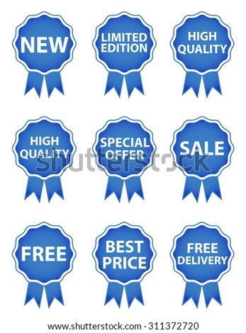 Shopping tags - Blue