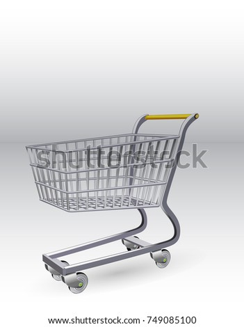 Shopping trolley. Grocery trolley.