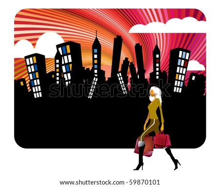 Shopping vector illustration - stock vector