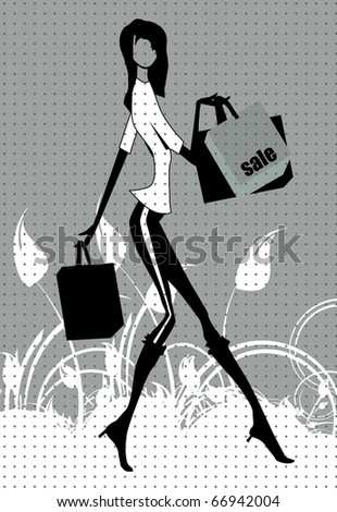 Shopping vector illustration - stock vector