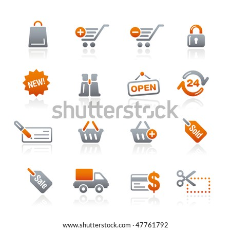 Shopping Web Icons // Graphite Series - stock vector