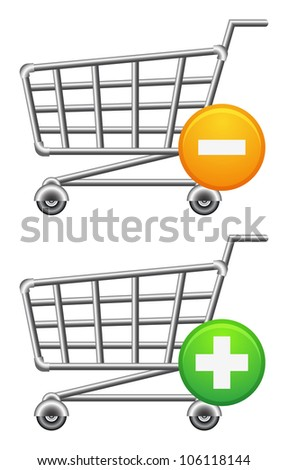 shoppingcart icon; button; sale; isolated vector illustration