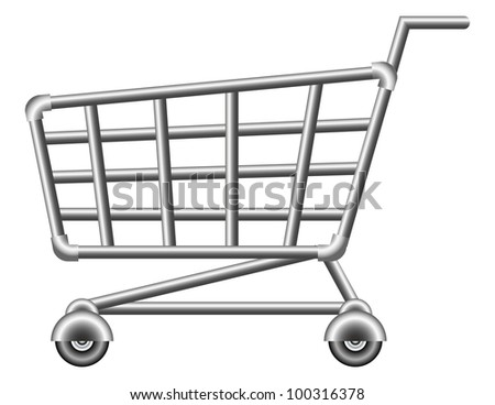 shoppingcart; sale; isolated vector illustration - stock vector