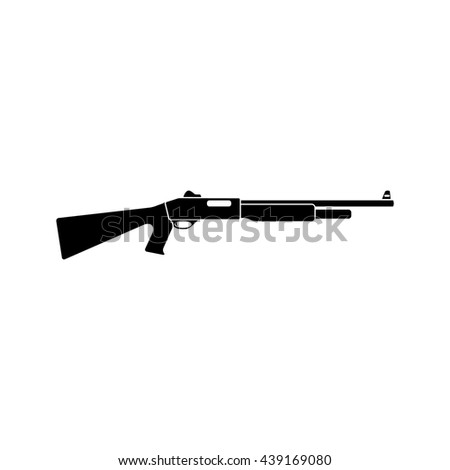 Shotgun black simple icon. vector illustration. Flat style for web and mobile. - stock vector
