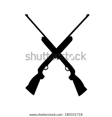 shotgun isolated on white background - stock vector