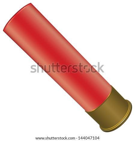 Shotgun Shell for sport hunting. Vector illustration. - stock vector
