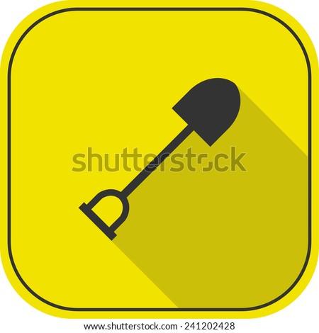 shovel icon. vector illustration - stock vector