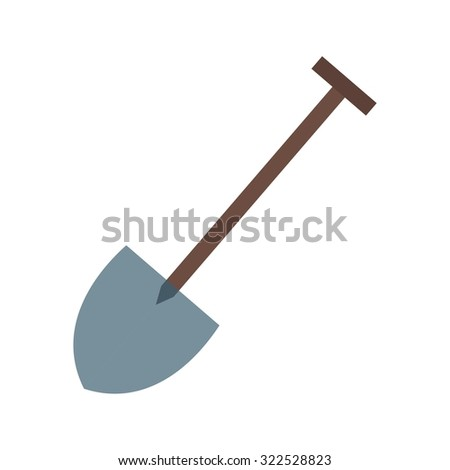 Shovel, tool, hand icon vector image.Can also be used for gardening. Suitable for mobile apps, web apps and print media.