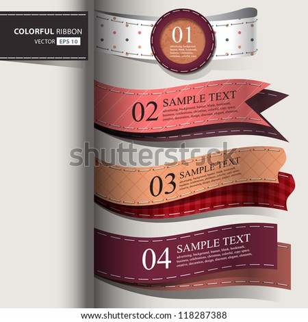 Show colorful leather promotional products design, vector illustration - stock vector