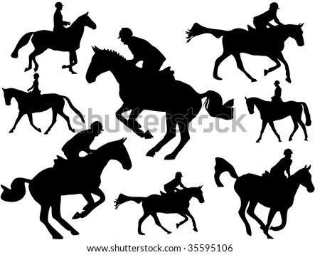 Show jumper silhouette