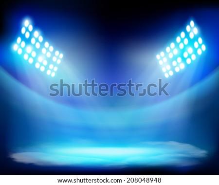 Show on the stadium. Vector illustration. - stock vector