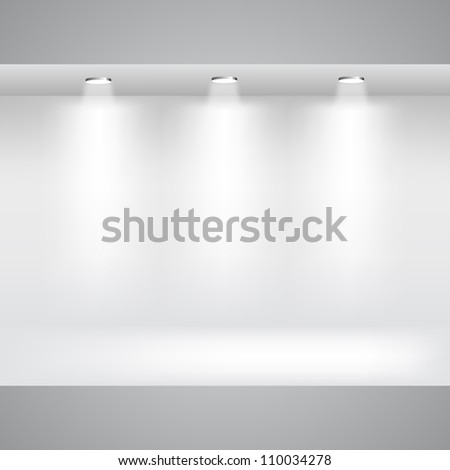 Showcase Gallery - stock vector