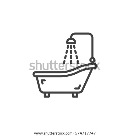 Bathroom Sign Logo Vector shower room outline stock images, royalty-free images & vectors